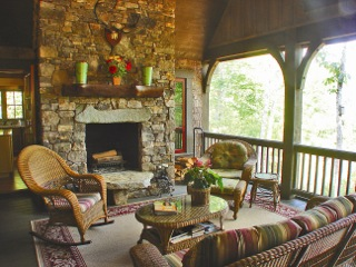 Bark Siding Asheville | Fake Bark Asheville | Faux Bark Hendersonville \ Barkclad Interior Porch