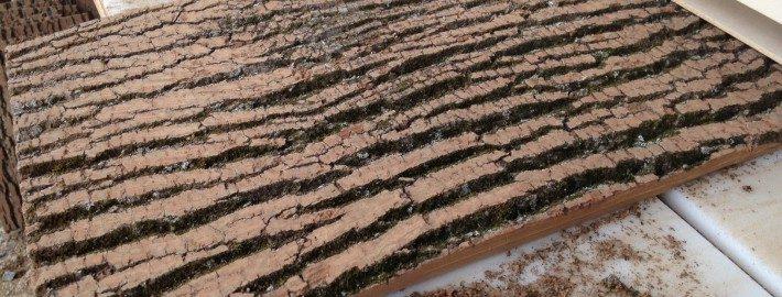 Planed Surface Natural Poplar bark by BarkClad
