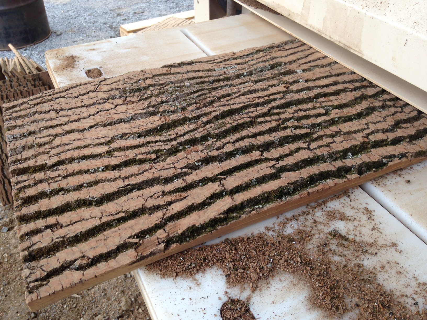 An exclusive offer on our planed surface natural bark for Bark house siding